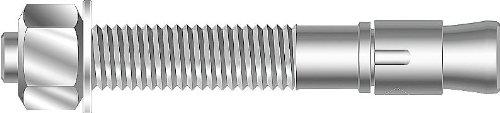 MKT Fastening - 271600S - 6 Steel Wedge Anchor, 1 Anchor Dia., 4PK by Mkt Fastening