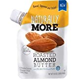 Naturally More Almond Butter - 100% All Natural Probiotic Infused + Flaxseeds - Delicious Roasted Almond Taste On The Go! Glu