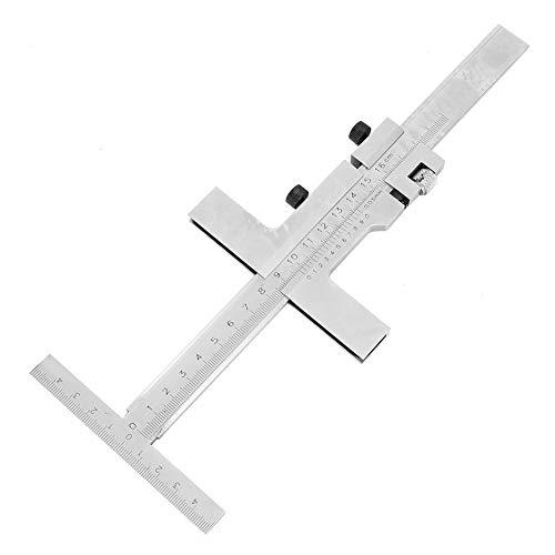 Vernier Caliper, 160mm T-Type Vernier Caliper with Fine Adjustment Carbon Steel Ruler Measuring Tool for Measuring Outer Inner Diameter, Depth(0-160mm)