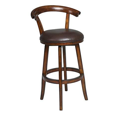 (Wood & Style Furniture Swivel Stool, Distressed Cherry, 30