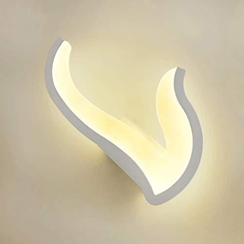 DYY LED Acrylique Applique Fer Pied De Chambre Chambre Lampe De Chevet Salon Corridor Décoratif Veilleuse (Couleur   Three-Couleur lumière, Taille   N)