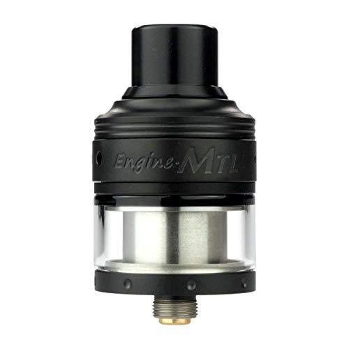 OBS Engine MTL RTA Clearomizer 2 ml, Durchmesser 24 mm, Selbstwickler, Riccardo Verdampfer für e-Zigarette, schwarz