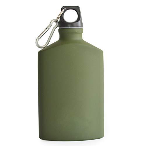 有名な高級ブランド Darnell B07DVYL7JW Darnell Nehemiahアウトドアスポーツ軽量アルミニウム水ボトルフラスコleak-proof Military Canteen Canteen Ovalケトルループ蓋狭い口 アーミーグリーン B07DVYL7JW, Karei:d770d139 --- a0267596.xsph.ru