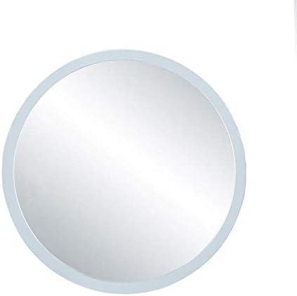 GYJ ミラーハンギングフレームハンギングドレッサー壁掛け鏡リビングルームの壁装飾ミラーとミラーのウォールマウント ファッション (Color : White, Size : Diamete-60cm)