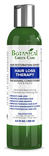 Hair Loss Therapy Premium Organic Deep Moisturizing & Intensive Reconstructive Conditioner. Alopecia Prevention and DHT Blocker. Doctor Developed.