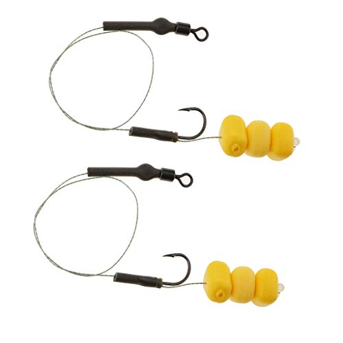 SM SunniMix 2pcs/Set, Durable Fishing Hair Rigs Carp Fishing Rig Terminal Tackle Kit 2# 4# 6# 8# - 6