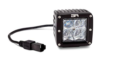4d Led 3 Series (Body Armor 30033 3 Series LED Cube Lamp Dual Row 4D Optics Spot Beam Pair w/Wiring Harness And Switch 3 Series LED Cube Lamp)