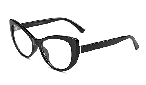 FEISEDY Women's Cateye Printed Optical Eyewear Non-prescription Eyeglasses Frame f B2441 by FEISEDY
