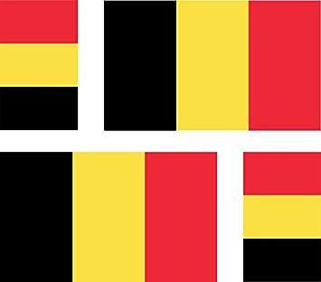 4 X Aufkleber Sticker Auto Motorrad Koffer Pc Belgische Flagge