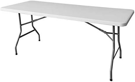 Mesa Blanca con Estructura de Acero de 180x75 cm - LOLAhome ...