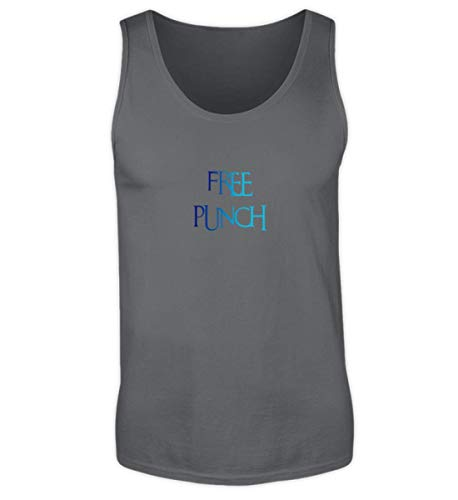 Tanktop Shirtee Punch Herren Free Solid Charcoal qwt6Uv