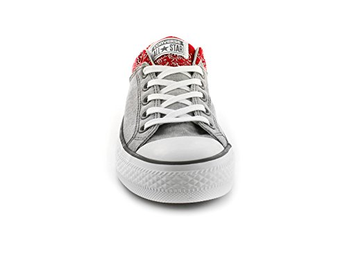 Herren Schuhe GRÖßEN Verschluss Leinen Spitze Star 7 UK grau Neu 12 Converse Rot weiß All Grau Klassisch Fq4Rd4w
