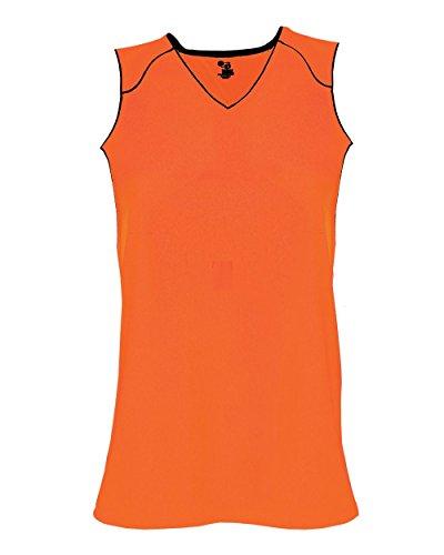Safety Orange/Black Ladies XL Performance Sports Wicking Jersey ()