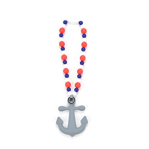 Nummy Beads Red, White & Blue Anchor Teether Toy Attaches To