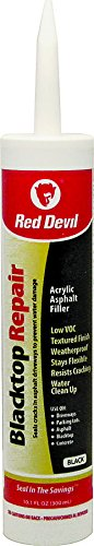 Red Devil 0637 12 Pack 10.1 oz. Blacktop Acrylic Repair Sealant, Black (Best Acrylic Blacktop Sealer)