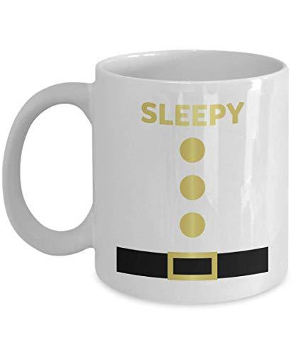 Sleepy Halloween Dwarf Funny Costume Gift Gift Coffee Mugs