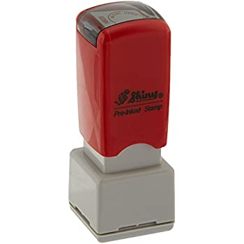 amazon com shiny initial here round stock stamp red hs038