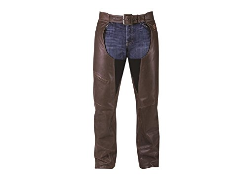 Indian Motorcycle Men's Brown Leather Chaps- XLarge