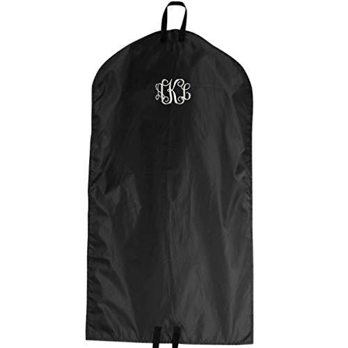 Monogrammed Garment Travel Bag - Embroidered (Black)