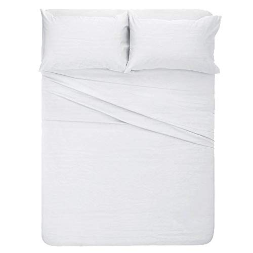 Giselle RV Short Queen Sheet Set 4 Peice (60 x 75) for Campers - Deep Pockets Fitted Sheet, 100% Luxury Soft Microfiber, Hypoallergenic, Solid ()