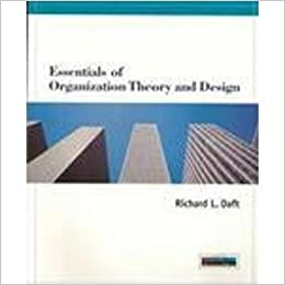 Essentials Of Organizational Theory And Design Daft Richard L 9780538879279 Amazon Com Books