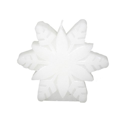 Fantastic Craft Snow Flake Candle, 5-Inch, White