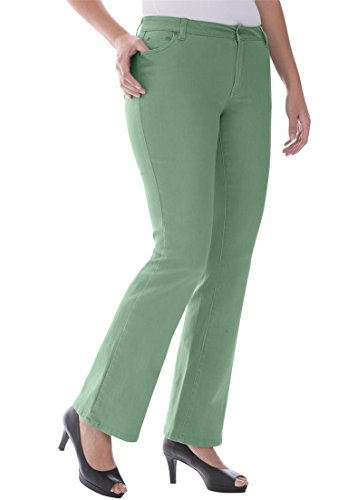 Jessica London Women's Plus Size Petite Bootcut Jeans – 12 Plus, Wild Sage