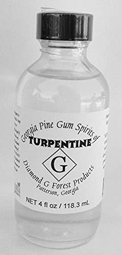 4 Oz 100% Pure Gum Spirits of Turpentine (Pure Gum Spirits Of Turpentine For Candida)