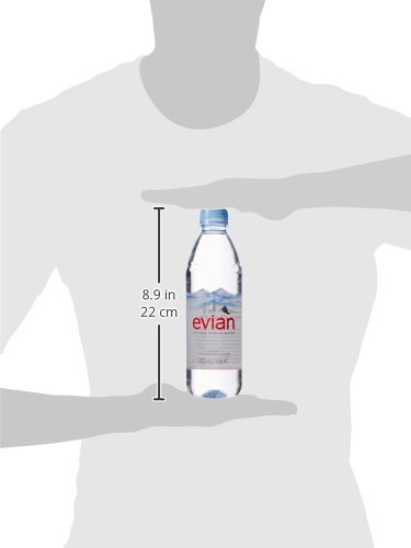 evian dSpqaswfg Natural Spring Water Individual 500 ml (16.9 oz.) Bottles, Naturally Filtered Spring Water in Individual-Sized Plastic Bottles, 2 Cases of 24 by evian (Image #5)
