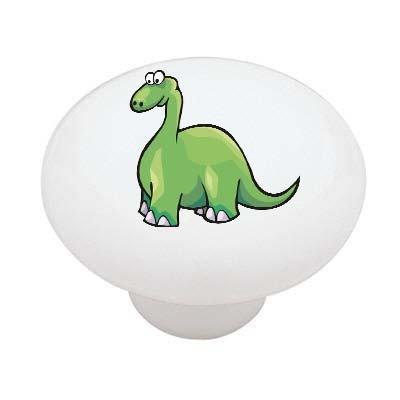 (Green Dinosaur Ceramic Drawer Knob)