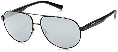 38cb0faa4edb Armani Exchange Men s Metal Man Non-Polarized Iridium Aviator Sunglasses