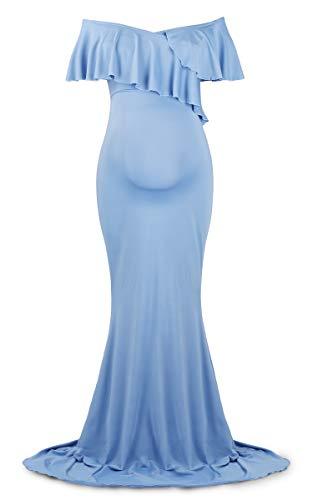 Fotografia Azzurro Fairy Fotografico eleganti Puntelli Abiti Abito Incinta incinte Increspatura donne Servizio Molliya Premaman Per Abiti Dance UCwxda7qa