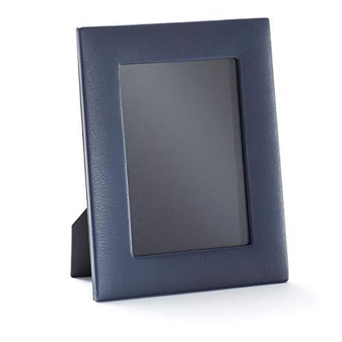 5X7 Portrait Photo Frame - Full Grain Leather - Navy (Blue)