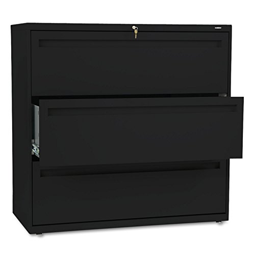700 Series Three-Drawer Lateral File, 42w x 19-1/4d, Black by HON (Catalog Category: Furniture & Accessories / File Cabinets)