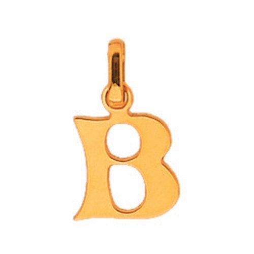 So Chic Bijoux © Pendentif Découpé Initiale Lettre B Or Jaune 750/000 (18 carats)