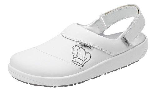 Abeba 9230-45 Rubber Chaussures sabot avec motif Taille 45 Blanc
