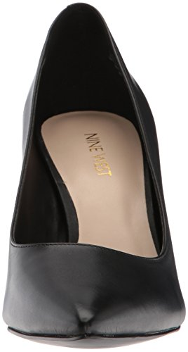 Pompa In Pelle Nera Da Donna Del West 9 In Pelle Nera
