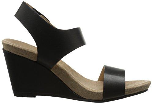 Cl Van Chinese Wasvrouw Tilly Wedge Sandaal Zwart Gepolijst