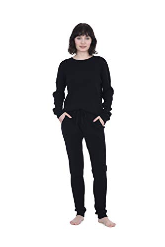 Cashmeren Women's 100% Pure Cashmere Knitted Loungewear Pants