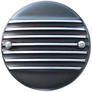 FORK エアクリーナーカバー Slip-On Cover, 7フィンブラックカバード SUキャブ用 1139-62B