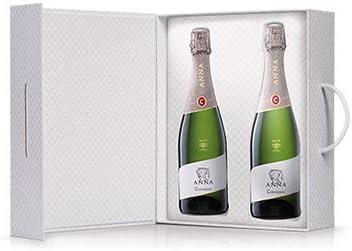 Codorníu | Estuche regalo Cava Anna de Codorníu Brut Nature | 2 botellas de 75 cl con estuche de lujo idel para regalar: Amazon.es: Alimentación y bebidas