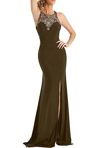 La Marie Abendkleider Bodenlang Ballkleider Elegant Braut Braun Chiffon Brautmutterkleider Langes xUSTqgwC