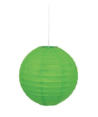 Round Lime Green Paper Lantern