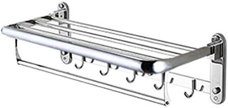 浴室の棚、304ステンレス鋼の可動式タオル掛け折る壁掛けの背部ホックタオル掛け-A