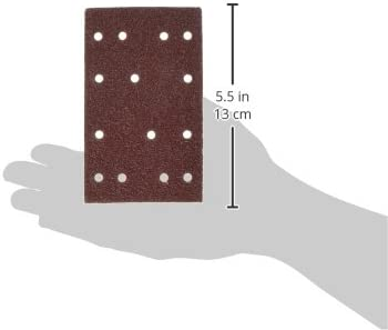 POWERTEC 4R13506-50 60 Grit A//O Hook and Loop for RTS 400//LS 130 Sander Pad 50 Pack
