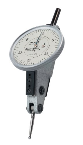 Brown & Sharpe TESA 74.111370 Interapid 312 Dial Test Indicator, Horizontal Type, M1.7x4 Thread, 0.157