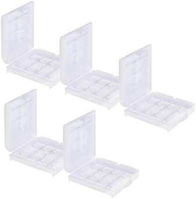 Caja de almacenamiento para pilas recargables Estuche casos box para 4 x AA Mignon o 4 x AAA Micro pilas / batería Conjunto de 5: Amazon.es: Electrónica