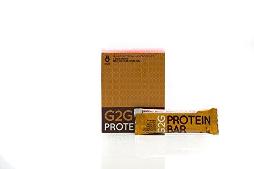 G2G Protein Bar, Peanut Butter Banana Chocolate Protein Bar, 8 Count (Peanut Butter Banana Honey)