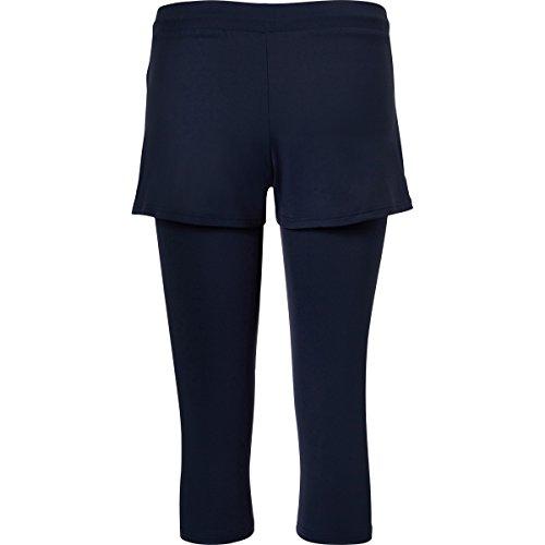 Sportkind Shorts avec leggings intégré de tennis / hockey sur gazon / course à pied pour fille et femme en bleu foncé tailles 4 ans à XXL