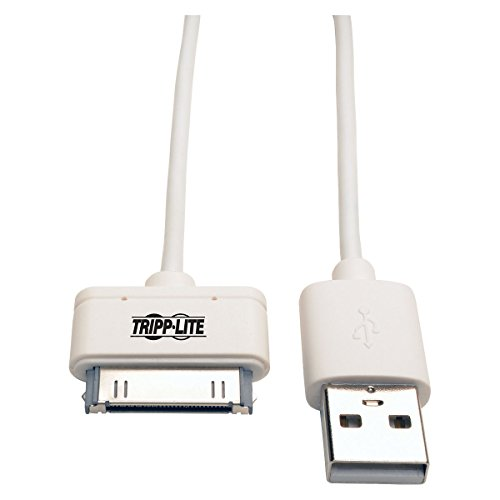 RIPP Lite M110-003-WH Cable USB de Sincronización/Carga con Conector de Acoplamiento Apple de 30 Pines para iPhone/iPad/iPod...